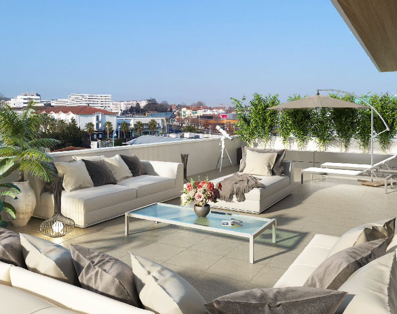 Achat appartement neuf t4 sur plan avec terrasse bayonne for Achat appartement t4